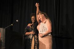 Women's Empowerment graduates enjoy the 2018 Celebration of Independence Gala wearing ballgowns donated by the community. Courtesy Women