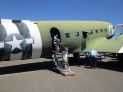 The tour included a C-53 plane which would have carried gliders to Normandy.
