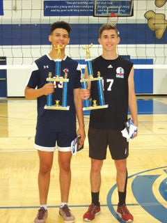 Volleyball players Matthew Yovzhiy and Jordan Tobey. Photo courtesy Optimist