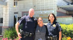 From left to right: Officer James Garing, CSO Larissa Wasilevsky, and Officer Felicia Taylor. Photo courtesy of Citrus Heights Police Department.