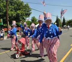 These Uncle Sams want You to join the Rancho Cordova 4th of July Parade. Photo by Rick Sloan