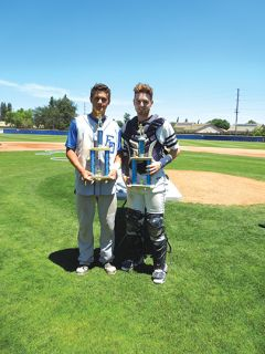 Outstanding Player for the South team was Kevin Haverson from El Dorado High School (left) and Outstanding Player for the North team was Josh Miller from Casa Roble High School (right). Courtesy Evening Optimist Club of Sacramento.