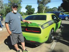 Mark Symons and his 2015 Dodge Challenger Grinch took 2nd place in the SRT Division – photo by Sandy Thomas