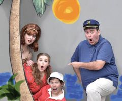 The cast of Gilligan's Island from left to right: Ginger played by Analise Langford, Mary Ann played by Ashley Jeffers, Gilligan played by Danny Beldi and the Skipper played by Jay Evans. Courtesy Fair Oaks Theater Festival