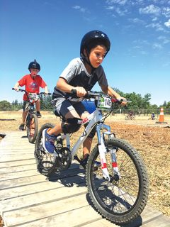 Kids can challenge their friends in a race around our track, ride around for fun in our bike park, and participate in our skill challenges. Courtesy Fair Oaks Recreation & Park District