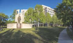 Frontal view of the Sacramento Shriners Hospitals for Children — Northern California. Courtesy of Shriners