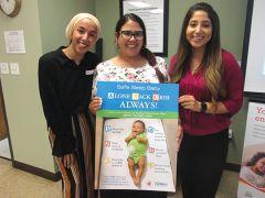 Arwa Al-Rakabi – Presley Vasquez – Yesenia Mendoza present Safe Sleep Baby tips.