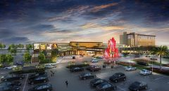 A rendering of the Hard Rock Hotel & Casino Sacramento at Fire Mountain. Image provided by Zimmerman Agency