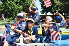 Local Cub Scouts celebrate our nation