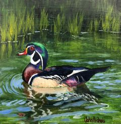 Example of Artwork/Painting by John Nichols exhibited at the 2018 Bucks for Ducks Art and Photography Show.