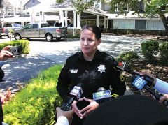 Deputy Sheriff and Public Information Officer Tess Deterding at Tuesday's press meeting. Photo by Patrick Larenas