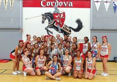 Cordova Lancers' Cheer Team group shot. Photo provided by Folsom Cordova School District