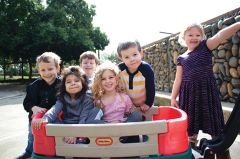 James (second from right) and fellow Discovery Kids Preschool students. Photo courtesy of CRPD