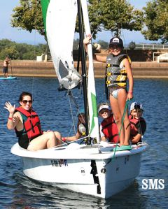 Lake Natoma is a 449-acre playground for students to practice new aquatic skills and impress parents.