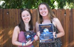 From left to right: Molly Wines, Colfax High School Senior Madeline Cramer, Colfax High School Senior and Placer County Youth Commissioner. Photo courtesy of Placer County Youth Commission