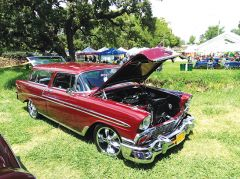 This 1956 Chevy Nomad owned by Brian Coffer had everybody drooling. Photo by Paul Scholl