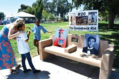 The Calvin Augusta bench at White Rock Community Park. Photo by Rick Sloan