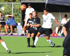 Ethan Viers (10, shown here vs Lake Tahoe on Sept 3) scored the Falcon's only goal in their 1-0 win over Butte