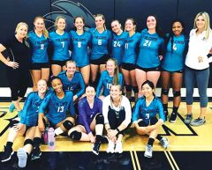 The Falcon sports women's volleyball team. Courtesy FLC