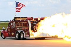 The Aftershock Jet Fire Truck gives the airborne performers a run for their money. Photo courtesy CCA