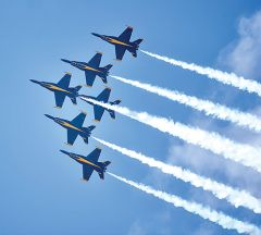 Airshow action takes to the skies next Saturday and Sunday. In addition to the U.S. Navy Blue Angels, the show features an extensive roster of spine-tingling acts. Photos courtesy CCA