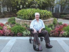 Carl Holland, a resident of Aegis of Carmichael Assisted Living, will celebrate his 102nd birthday on October 9. Photo by Shaunna Boyd