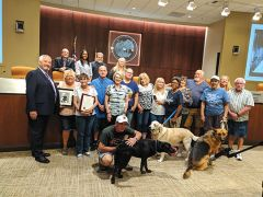 The Citrus Heights City Council invited Bill Heiser's family and his fellow POOCH members to hear a proclamation recognizing Heiser's contributions to the community. Photo by Shaunna Boyd.