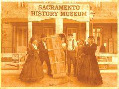 Sepia image is courtesy of the Sacramento History Museum.