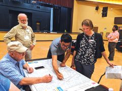 Citrus Heights residents attended an Open House event to share their traffic and safety concerns about the Carriage Dr. and Lauppe Ln. corridor.