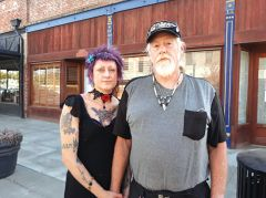 Survivors Avalon and Rocky Glucksman, while having different coping methods, find strength in each other. Photo by Seti Long