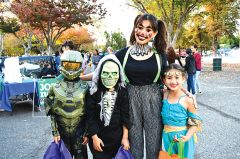 A Halo soldier, a Skeletor, a clown and a dancer provided Halloween at Hagan Community with lively characters to surprise and spook everyone. Photo by Rick Sloan