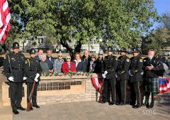 Patriots Park was the scene of remembrances last weekend. Located on the Carmichael, Citrus Heights and Fair Oaks border, the reserve contains a monument for fallen community heroes.