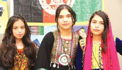 Students from Afghanistan, Egypt, Russia, Ukraine, Iraq and Mexico were among many displaying their cultural heritage at the Global Expo. Photo courtesy SJUSD
